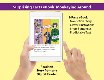 Surprising Facts eBook: Nonfiction Story About Monkeys & Apes