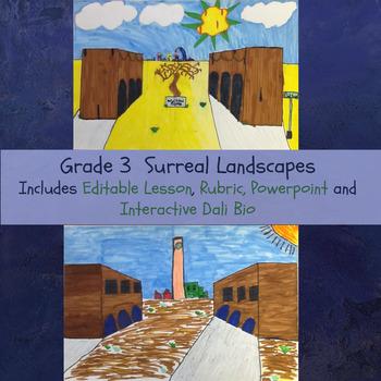 Surreal Landscapes Grades 3-4 No Prep