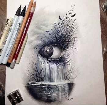 Surrealist Eye Art Project