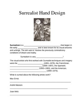 Surrealist Hand Worksheet
