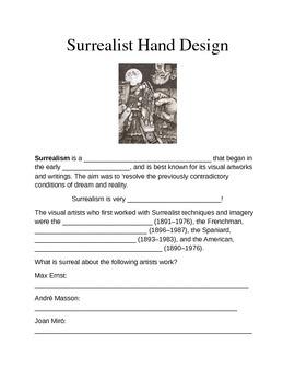 Surrealist Hand Worksheet
