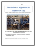 Surrender at Appomattox- Webquest with Key