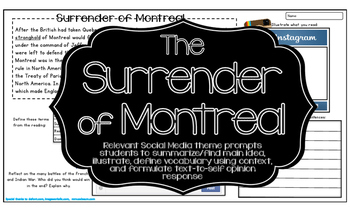French and Indian War Surrender of Montreal