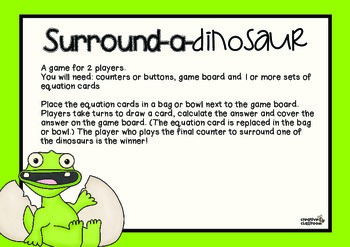 Surround-a-Dinosaur: A game to practice division facts