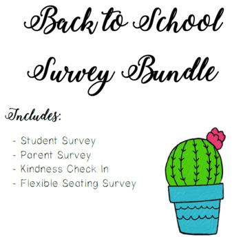 Survey Bundle! Classroom Community Must!