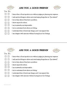 """Survey Goes w """"Friendship Skills"""" Lesson Character Education tool PBIS"""