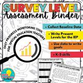Survey Level Assessment for SPED