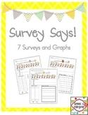 Survey Says!  A mini unit for surveys and graphs