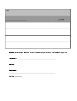 Survey, Tally and Frequency Table Math Project