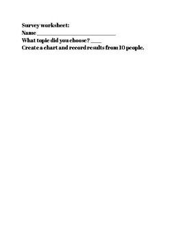 Survey Worksheet