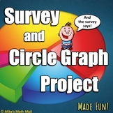 Geometry: Survey and Circle Graph Project Made Fun!