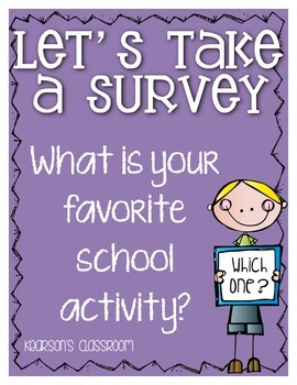 Survey and Graph ... My Favorite School Activity