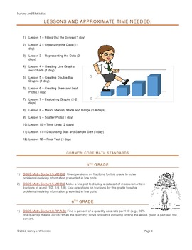 Survey and Statistics - Creating a Classroom Almanac