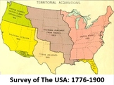 Survey of the USA 1776 to 1900: Power Point, Notes, Worksheets