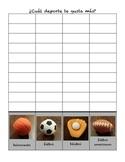 Survey-sports/ Encuesta deportes spanish bilingual espanol