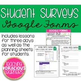 Student Surveys with Google Forms Lesson Plans