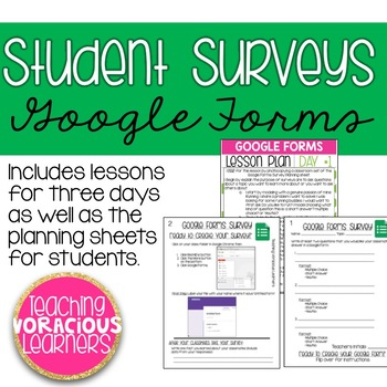 Student Surveys with Google Forms Lesson Plans