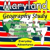 Surveying Maryland (Geography Notebooking Pages)