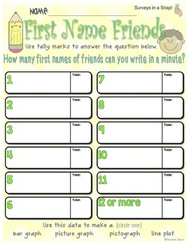 Surveys in a Snap! {Graphing Fun}