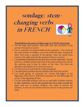 Surveys with FRENCH spelling changing verbs