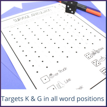 "Survival Articulation: ""K"" and ""G"" Freebie"