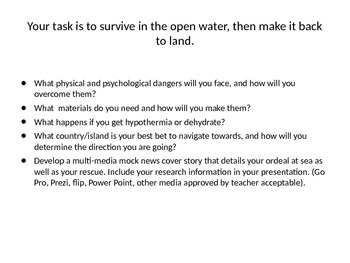 Survival Critical Thinking Activities