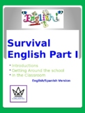 Survival English Part I:  Spanish-English Version