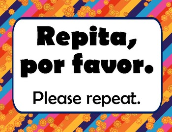 Survival Expression posters for the Spanish classroom