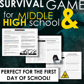 Survival Game for Grades 7-12! BACK-TO-SCHOOL FUN or use for a novel study!