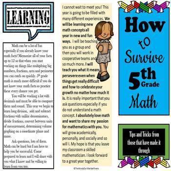 Survival Guide- 5th Grade Math