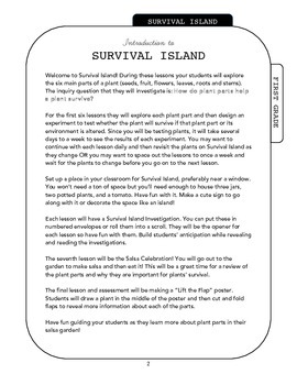Survival Island - Plant Parts Science Unit (includes Salsa Garden Plans)