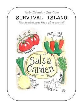 Survival Island - Plant Parts Science Unit (includes Salsa