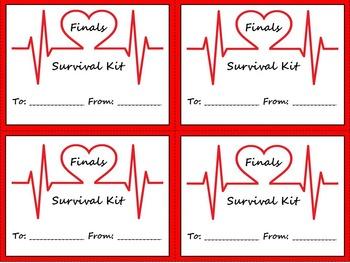 Survival Kit Labels