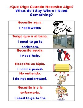Survival Poster for Newcomer ELLs in General Ed Classrooms