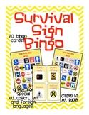 Survival Sign Bingo