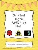Survival Signs Activities Set