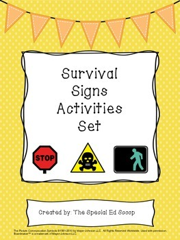 Survival Signs Activities Set