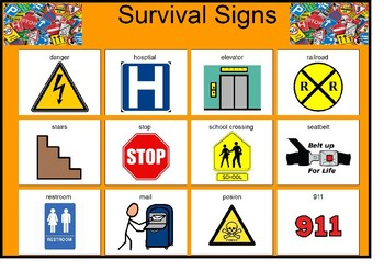 Survival Signs Matching Board!