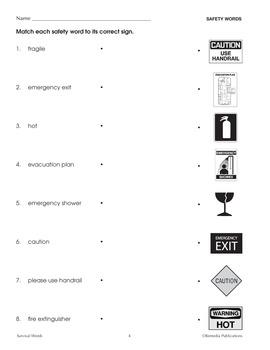 Survival Signs & Symbols Vocabulary Activities