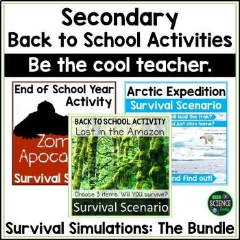 Survival Simulations BUNDLE: Back to School Activities