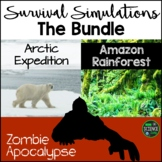 Survival Simulations BUNDLE: Back to School Activities