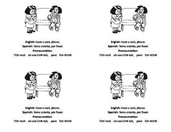 Survival Spanish Cards