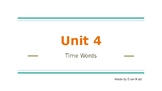 Survival Vocabulary Unit 4: Time Words Powerpoint