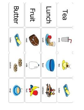 Survival Vocabulary Unit 2: Boardmaker Food Words