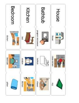 Survival Vocabulary Unit 1: Boardmaker Home Words