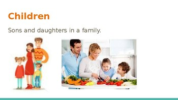 Survival Vocabulary Unit 3: Family Words Powerpoint