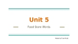 Survival Vocabulary Unit 5: Food Store Words Powerpoint