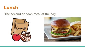 Survival Vocabulary Unit 2: Food Words Powerpoint