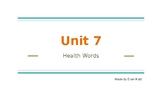 Survival Vocabulary Unit 7: Health Words Powerpoint