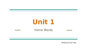 Survival Vocabulary Unit 1: Home Words Powerpoint